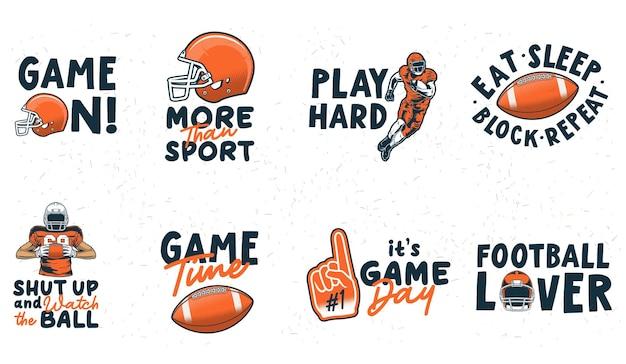 かわいいアメリカンフットボールのベクトルコレクション