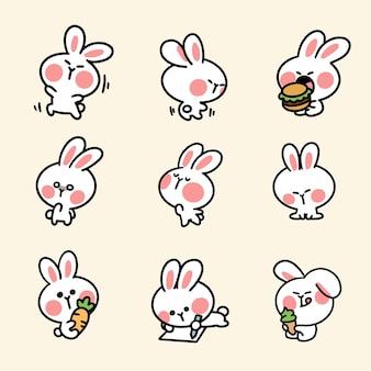 Симпатичный и очаровательный кролик, третий набор