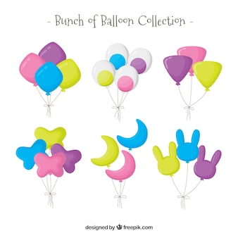 Cute and colorful decorative balloons