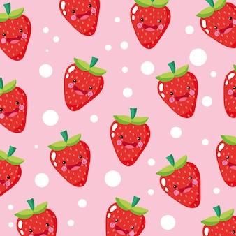 귀엽고 재미있는 딸기 미소