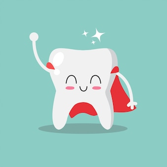 Симпатичный и забавный зуб