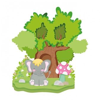 귀엽고 작은 코끼리 캐릭터
