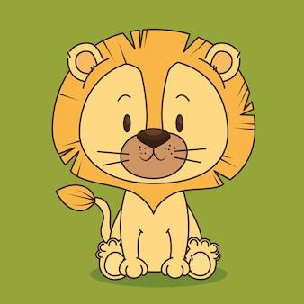 かわいい、小さなライオンのキャラクター