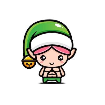 Симпатичный и мускулистый рождественский эльф