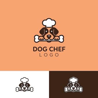 귀엽고 간단한 개밥 고문 요리사 로고