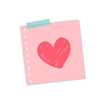 Cute and sweet love note illustration
