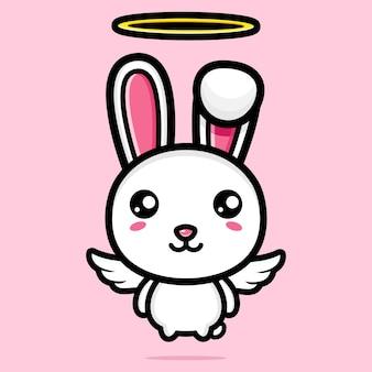귀여운 천사 토끼 캐릭터 디자인