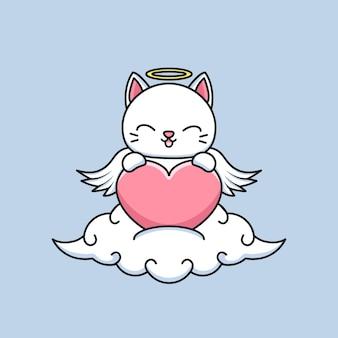 Милый кот ангел