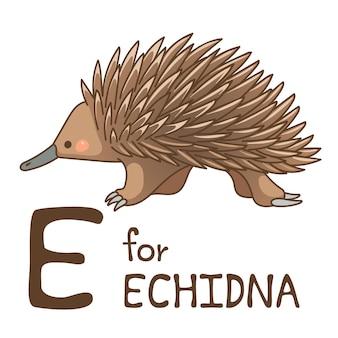 Симпатичные животные алфавит серии az для детей. векторная иллюстрация дизайна персонажа из мультфильма.