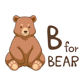 Cute animal alphabet series a-z for kids. vector cartoon character design illustration.