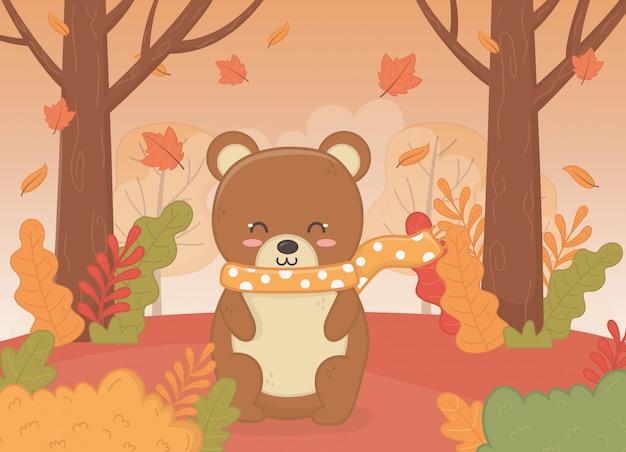 Cute animal in autumn season