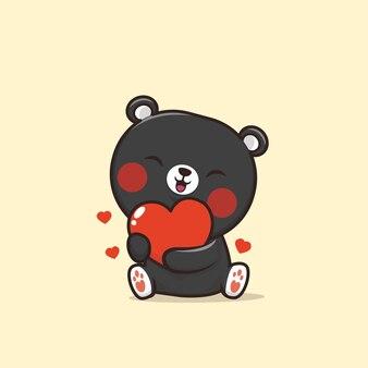 Иллюстрация милый медведь животных