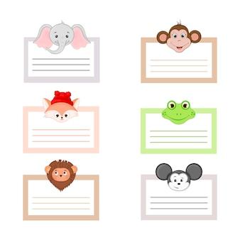 Cute animal. cartoon characters. vector illustration.