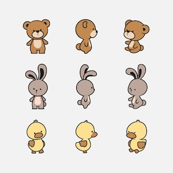 Cute animal character collection