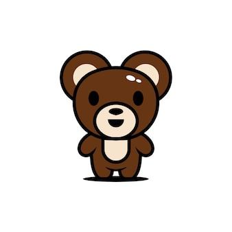かわいい動物キャラクタークマ