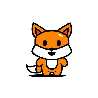 Симпатичные животные персонажи лиса