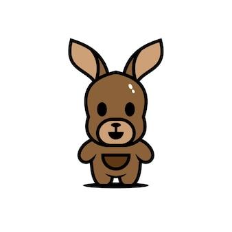 Симпатичные животные персонажи кенгуру