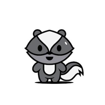 Симпатичные животные персонажи скунс