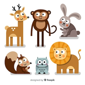 Cute animal collection with deer
