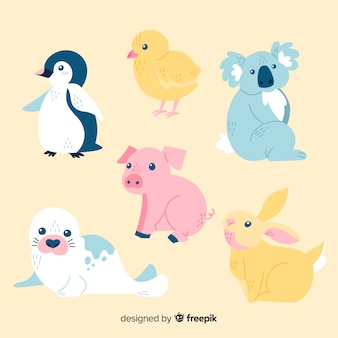 Cute animal collection with koala bear