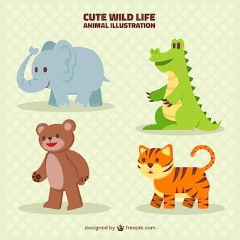 Симпатичные коллекция животных