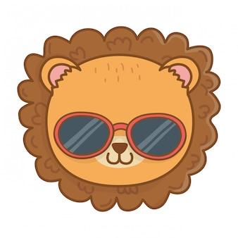 Cute animal face cartoon