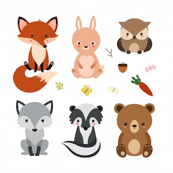 Cute Animal forest set