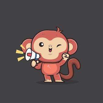 Cute animal monkey illustration