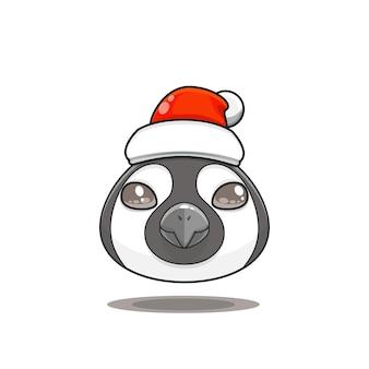 산타 모자를 쓰고 귀여운 동물 괴물 머리 그림