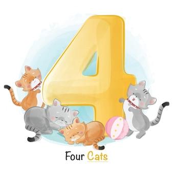 Симпатичная нумерация животных для детей