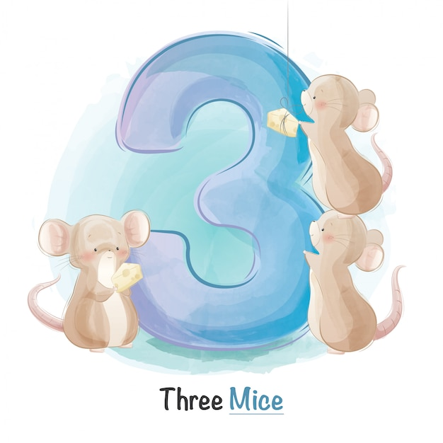 Cute animal numbering for kids
