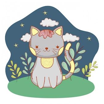 Cute animal outdoors cartoon