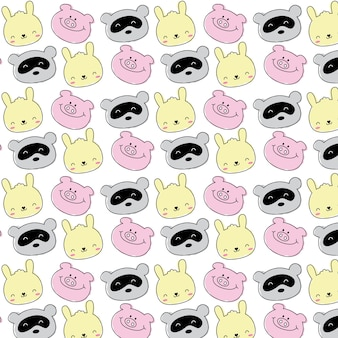 귀여운 동물 패턴