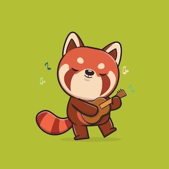 귀여운 동물 레드 팬더 그림