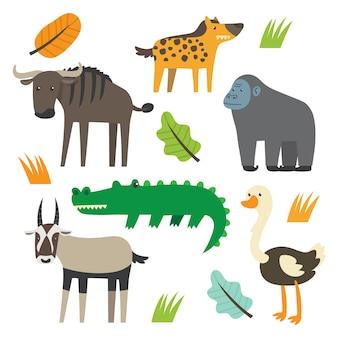 Симпатичные животные набор мультфильм серии