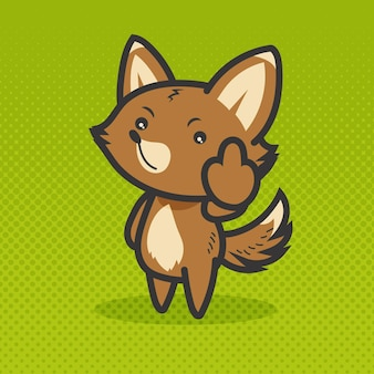 Симпатичное животное, показывающее на хуй символ