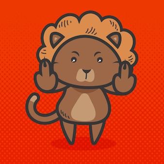 Симпатичное животное, показывающее, трахни тебя символ