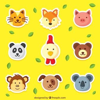 귀여운 동물 스티커