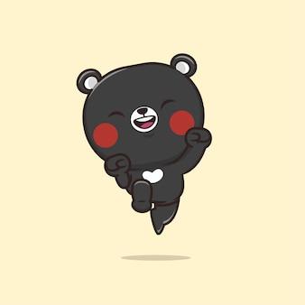 귀여운 동물 야생 동물 곰 그림