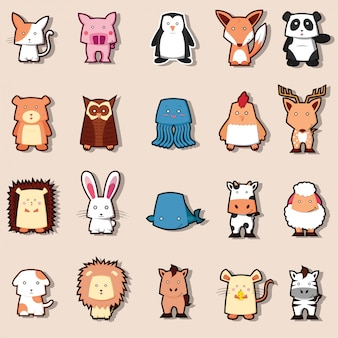Cute animal zoo collection
