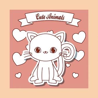 Симпатичная открытка с животными