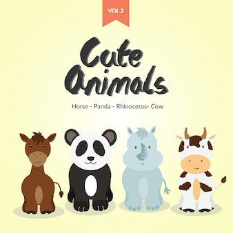 Cute animals character