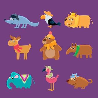 Коллекция симпатичных животных