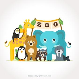 동물원에서 귀여운 동물