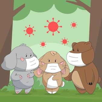 Милые животные во время коронавируса