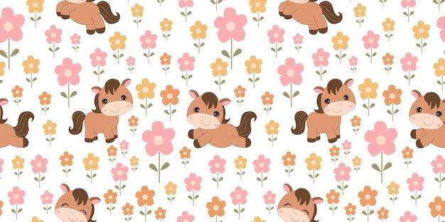 어린이 패브릭 벽지 등을 위한 귀여운 동물 패턴