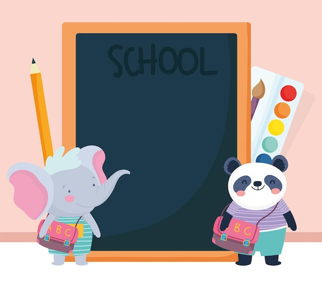Cute animals students
