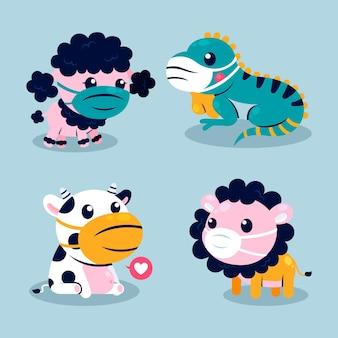 Cute animals in times of coronavirus