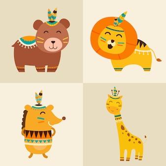 Симпатичные животные с boho style