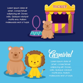 Cute animals with sale ticket circus